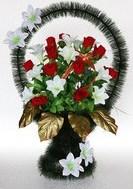 Корзины средние | Большой выбор ритуальных средних корзин разных форм и расцветов.