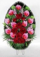 Венки малые | Большой выбор ритуальных малых венков разных форм и расцветов.